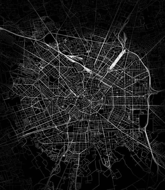 milan map detail la forma