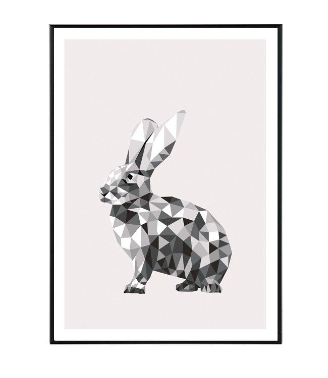 bunny geometrie obraz design studio la forma
