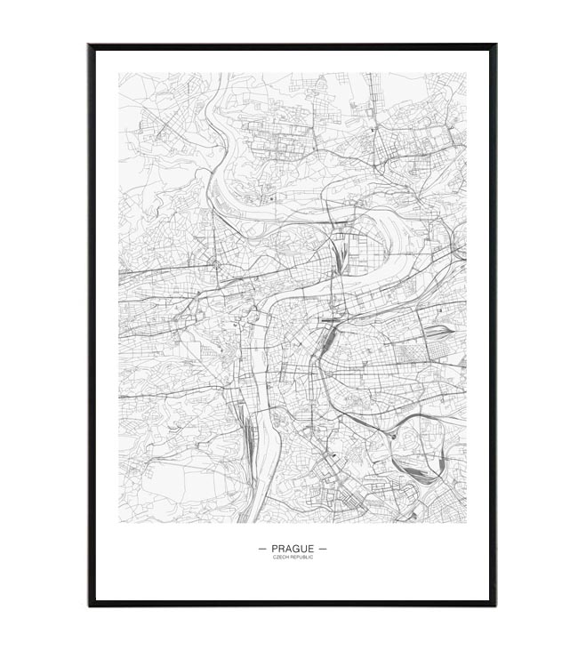 Prague map II design studio La forma