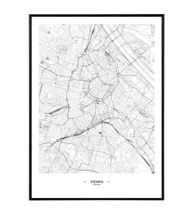 Vienna mapa La forma