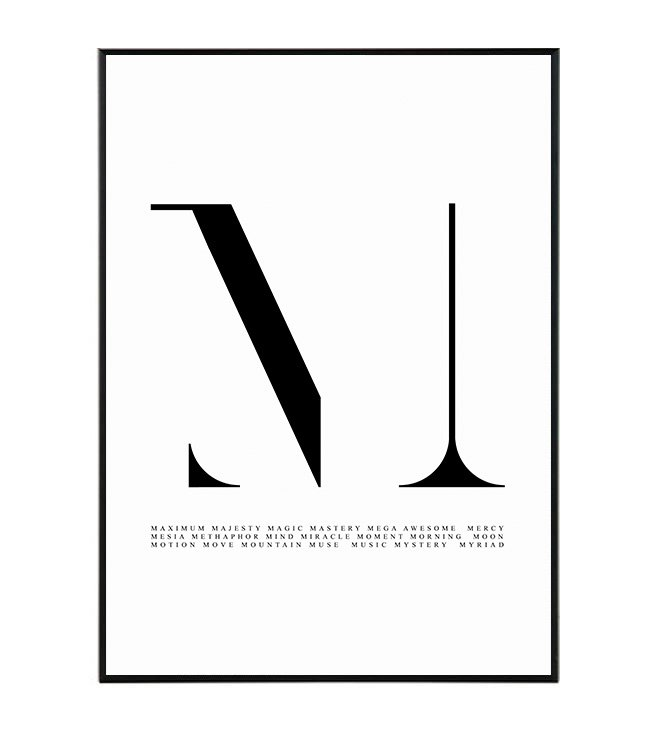 Typography M 1