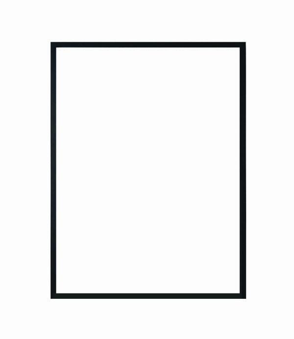 hliníkový rám NIELSEN černá barva 50x70 cm 3