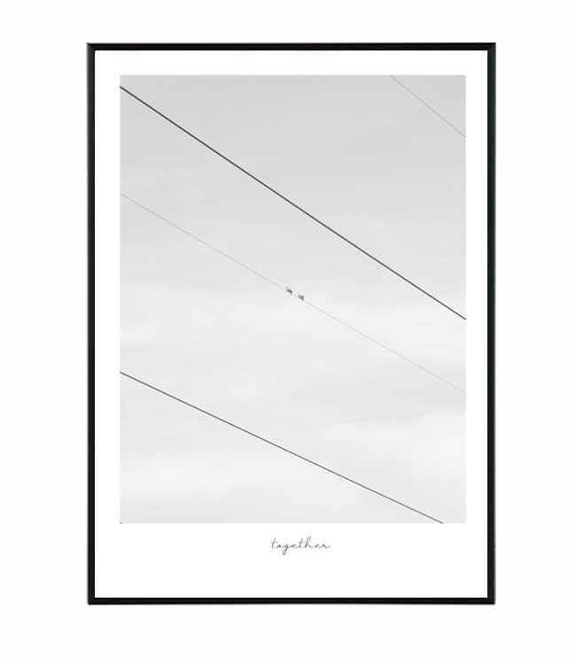 obraz černobílý design studio La forma