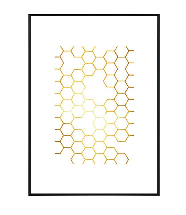 Honey obraz geometrie design studio La forma