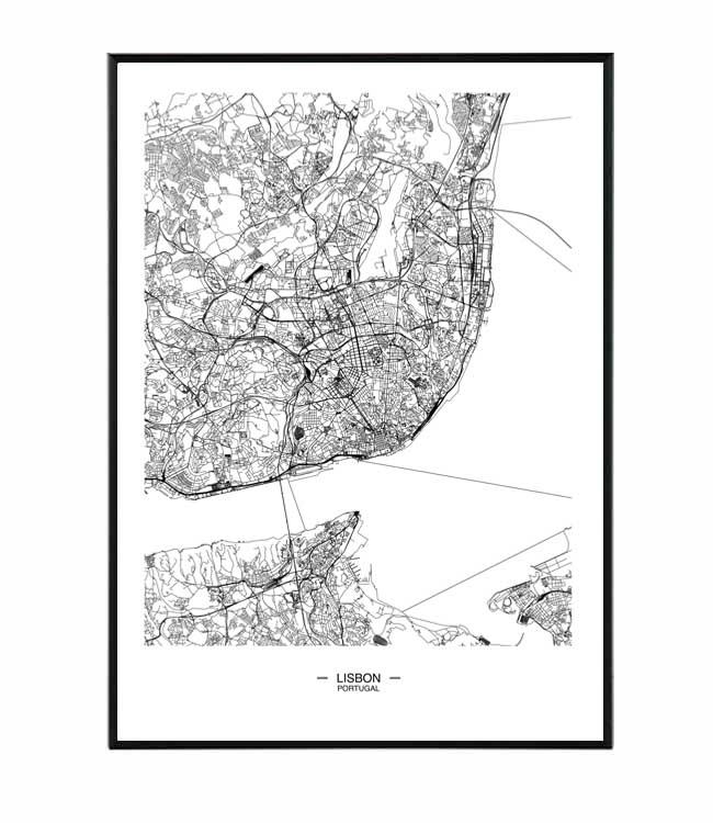 lisabon mapa obraz design studio la forma