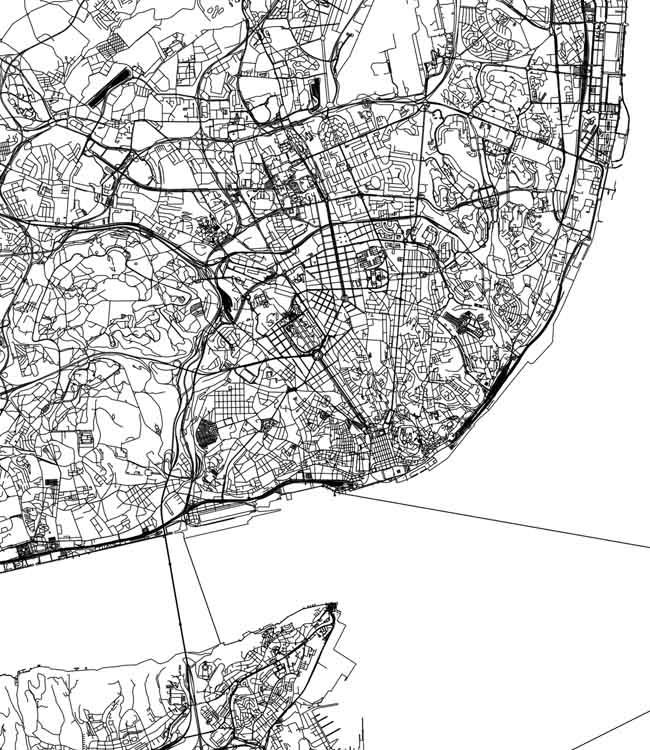 lisabon mapa obraz