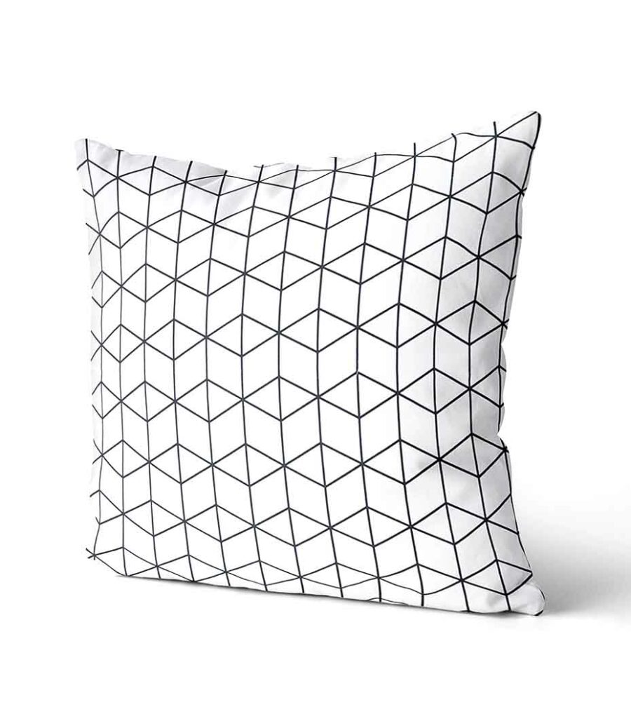 dekorativní geometrický povlak na polštář Cube 40x40 cm 2