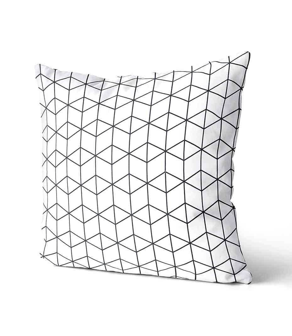 dekorativní geometrický povlak na polštář Cube 50x50 cm 2