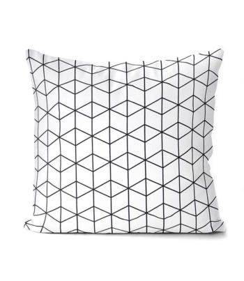 dekorativní geometrický povlak na polštář Cube 40x40 cm 17