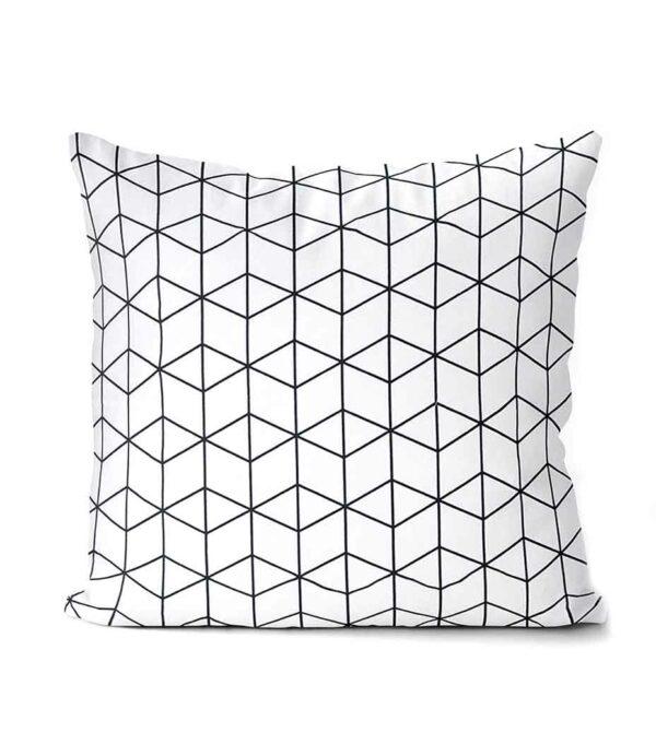 dekorativní geometrický povlak na polštář Cube 50x50 cm 3