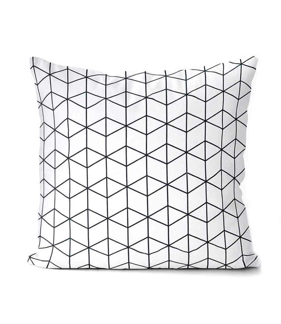 dekorativní geometrický povlak na polštář Cube 40x40 cm 1
