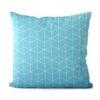dekorativní geometrický povlak na polštář Cube turquoise 40x40 cm 1