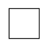 černý dřevěný rám LIGHT 50x50 cm 7