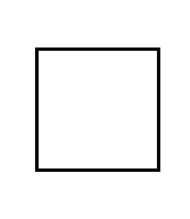 černý dřevěný rám LIGHT 50x50 cm 1