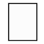 černý dřevěný rám LIGHT 50x70 cm 6