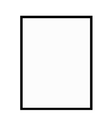 černý dřevěný rám LIGHT 50x70 cm 3