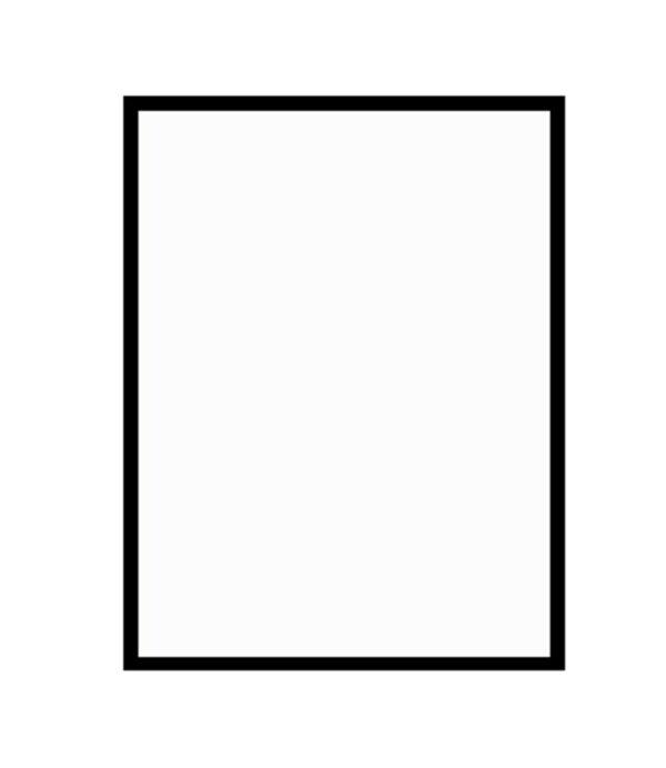 černý dřevěný rám LIGHT 50x70 cm 7