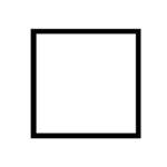 černý dřevěný rám CLASSIC 50x50 cm 6