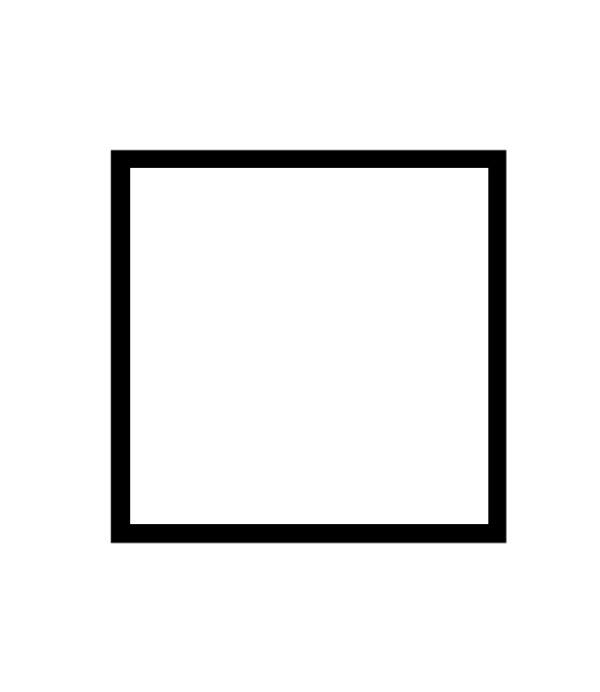 černý dřevěný rám CLASSIC 50x50 cm 23