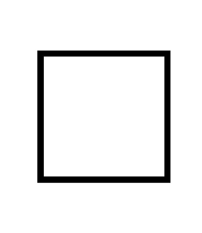 černý dřevěný rám CLASSIC 50x50 cm 1