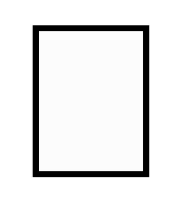 černý dřevěný rám CLASSIC 50x70 cm 5