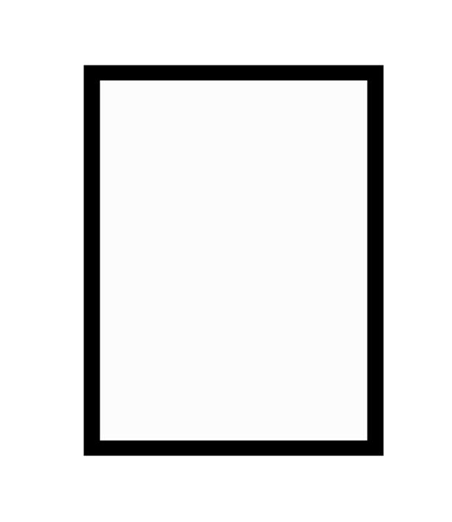 černý dřevěný rám CLASSIC 50x70 cm 1