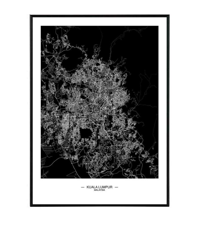 Kuala Lumpur mapa obraz design studio La forma