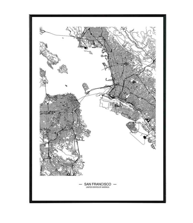 San Francisco mapa obraz design studio la forma