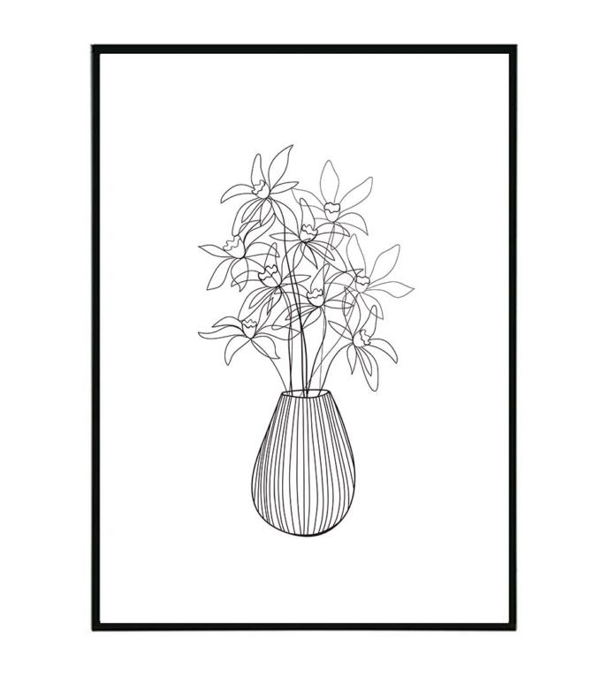 narcis květina obraz design studio La forma