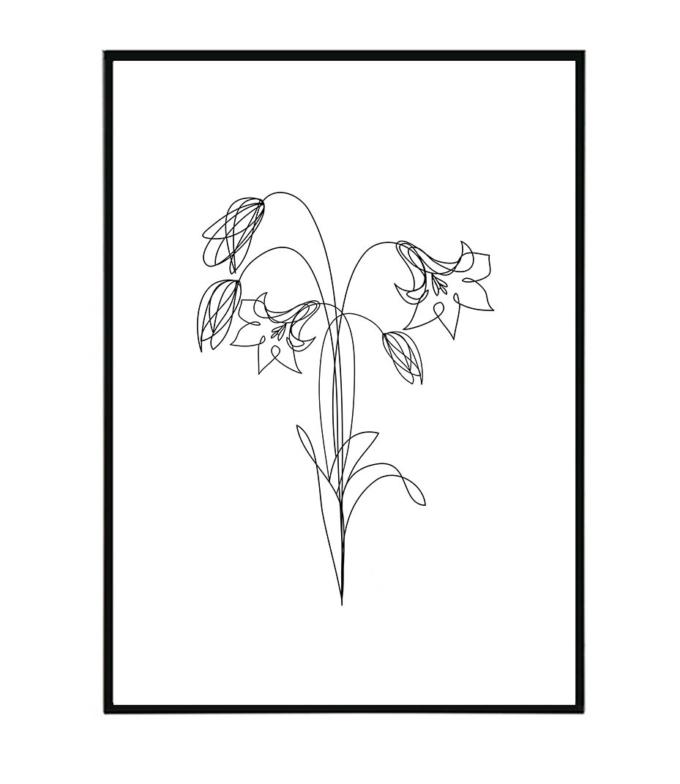 zvonky květina obraz design studio La forma