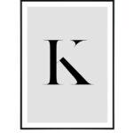 Letter K 10