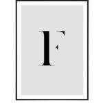 Letter F 10