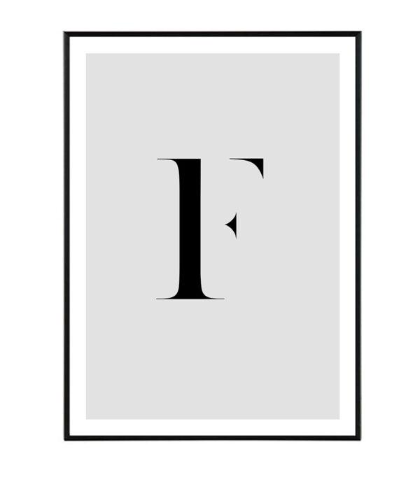 Letter F 156