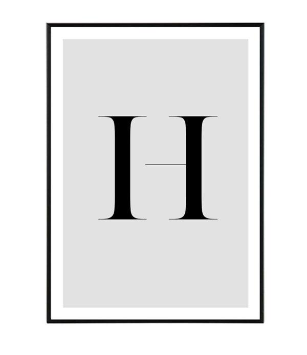 Letter H 162