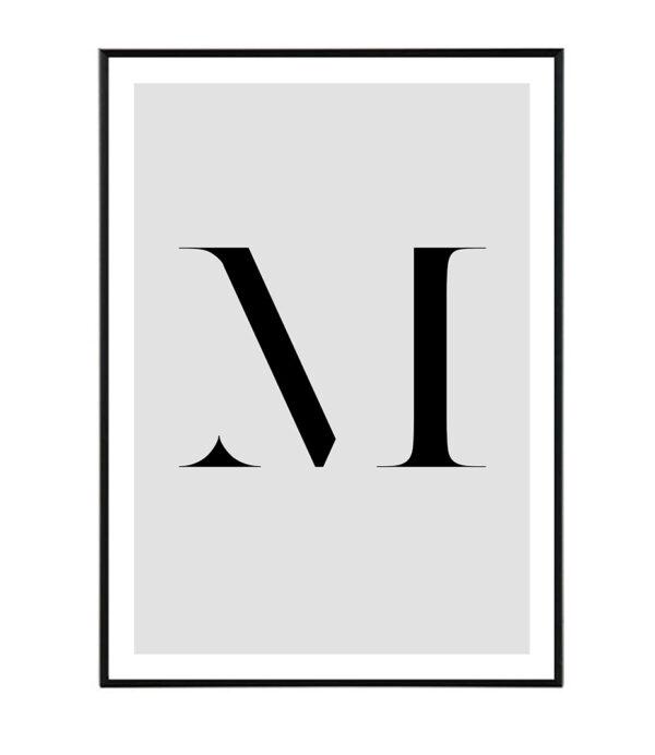 Letter M 163
