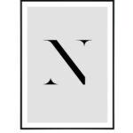 Letter N 10