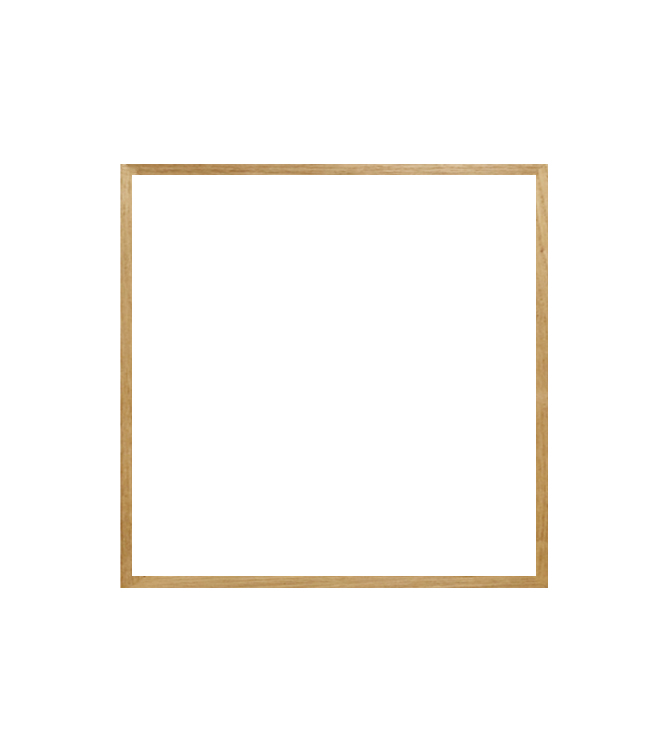dubový rám 50×50 cm