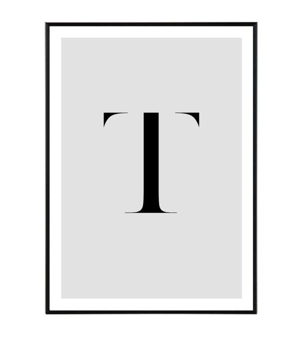 Letter T 8