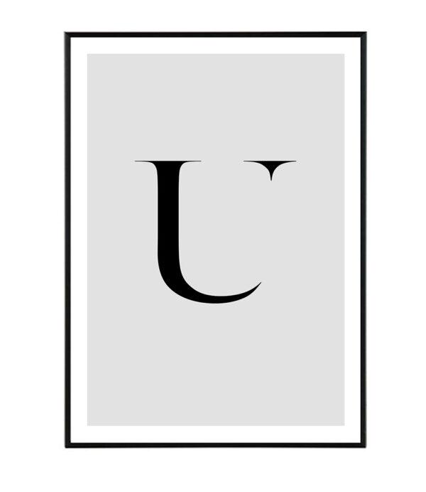 Letter U 6