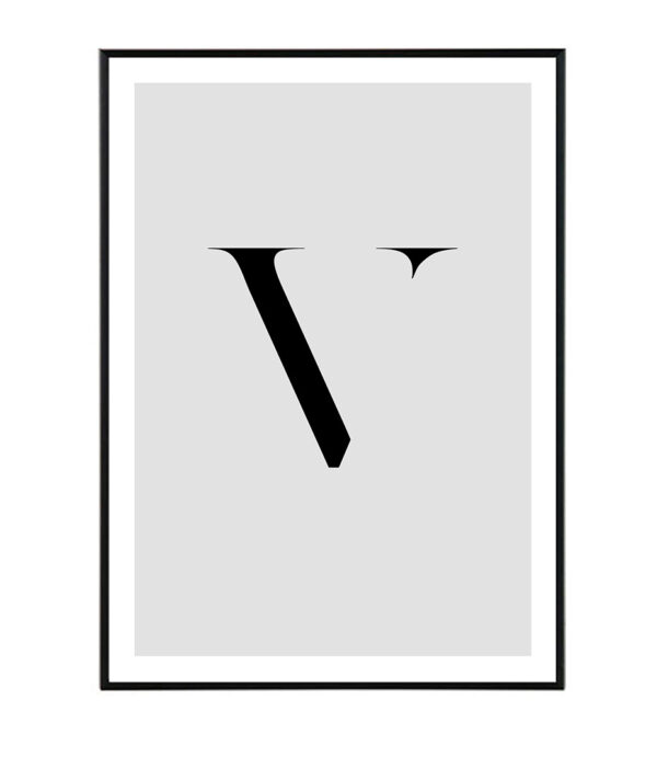 Letter V 6