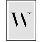 Letter W 10
