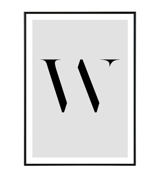 Letter W 9
