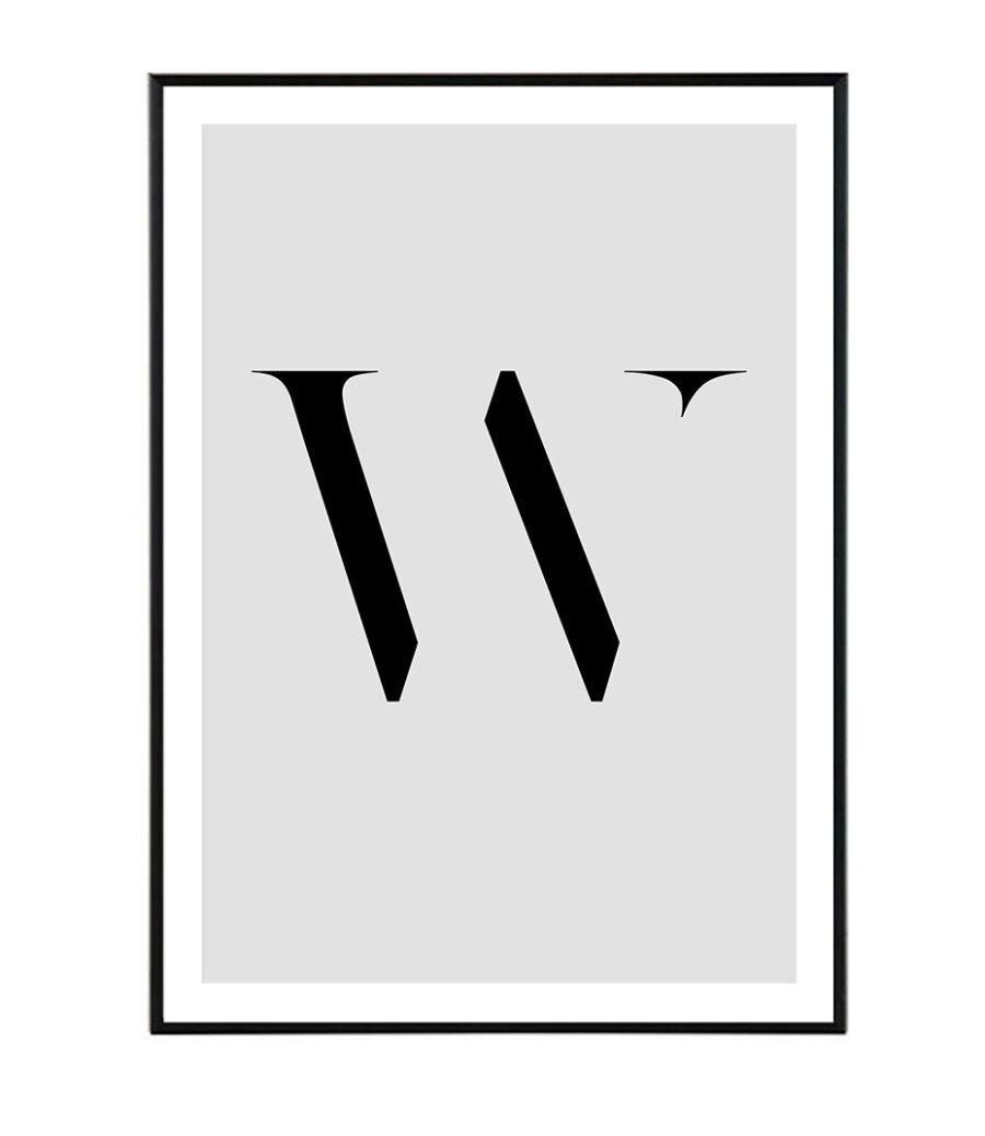 Letter W 1