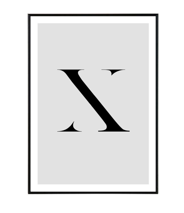Letter X 7