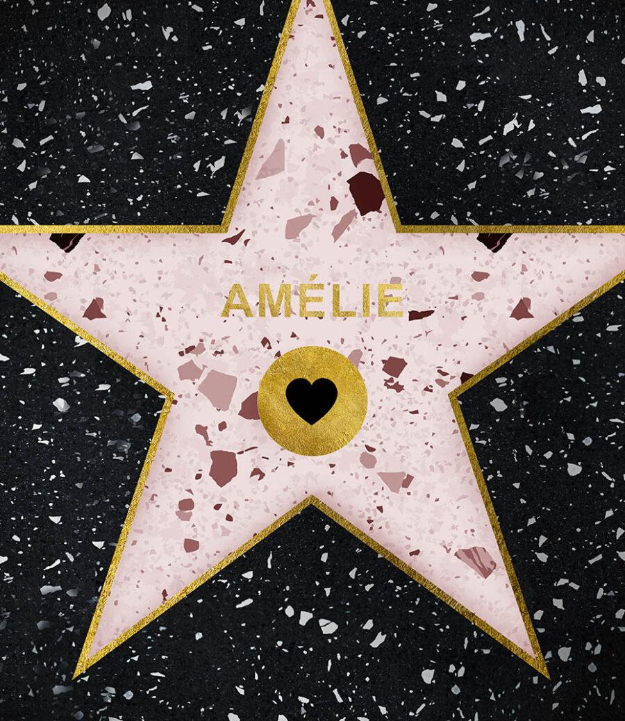 Hollywood star pink na přání 2