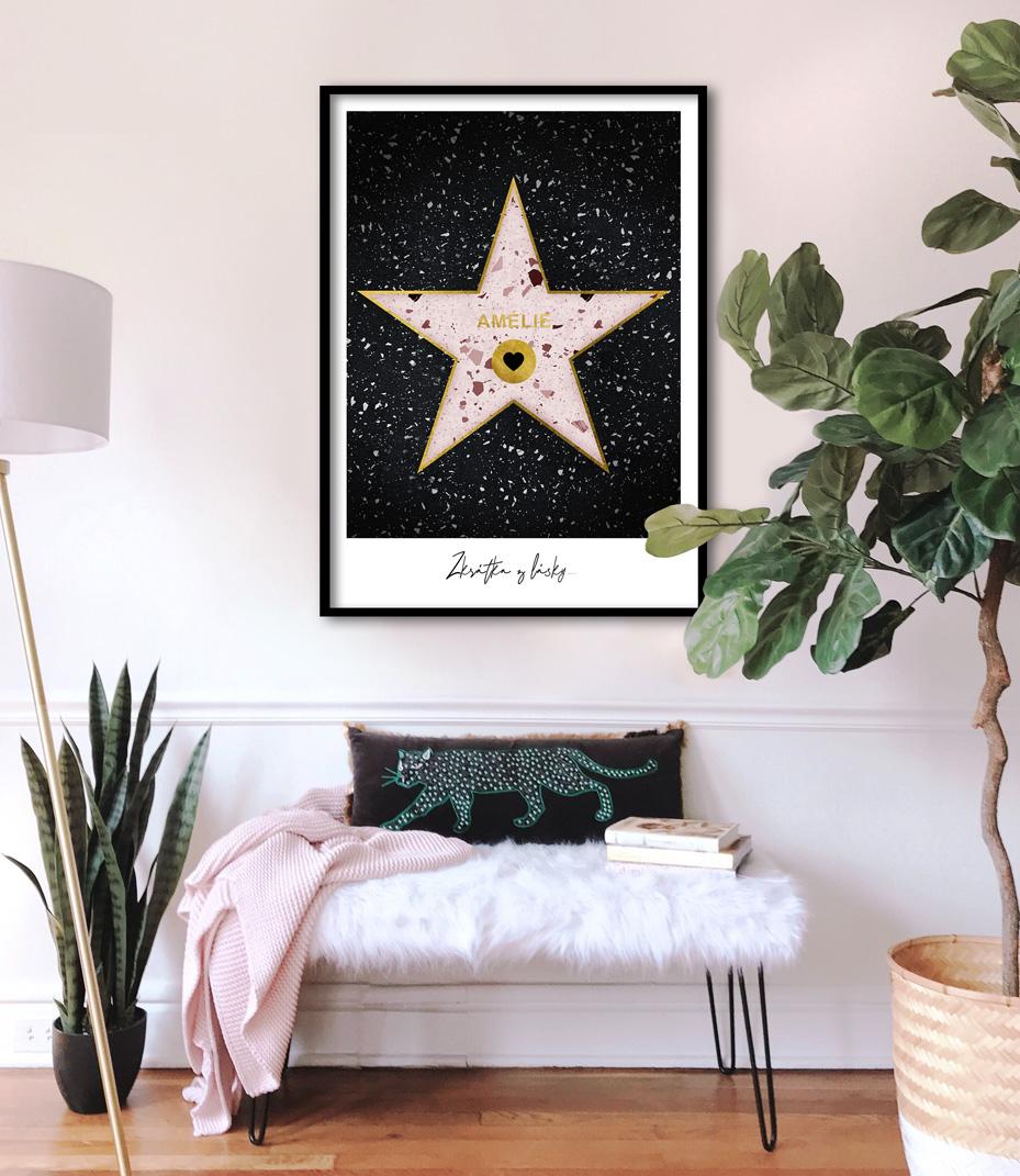 Hollywood star pink na přání 3
