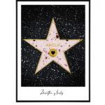Hollywood star pink na přání 9