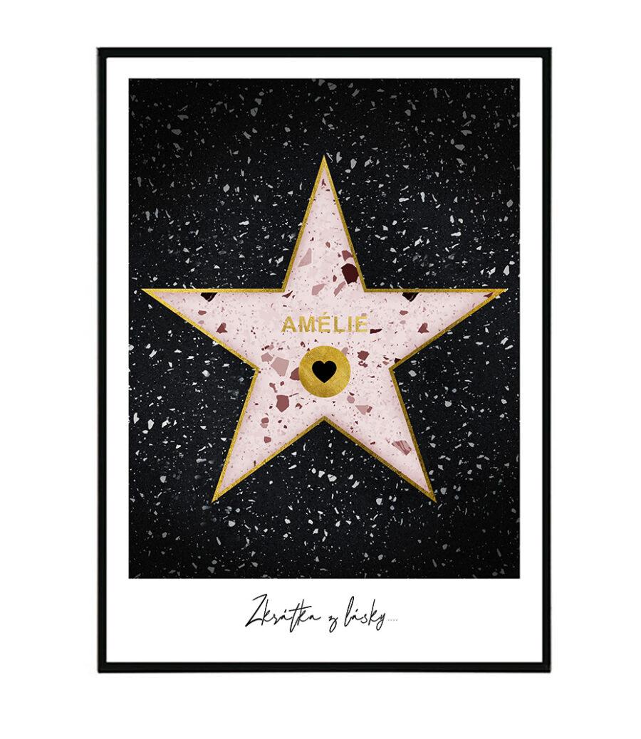 Hollywood star pink na přání 1