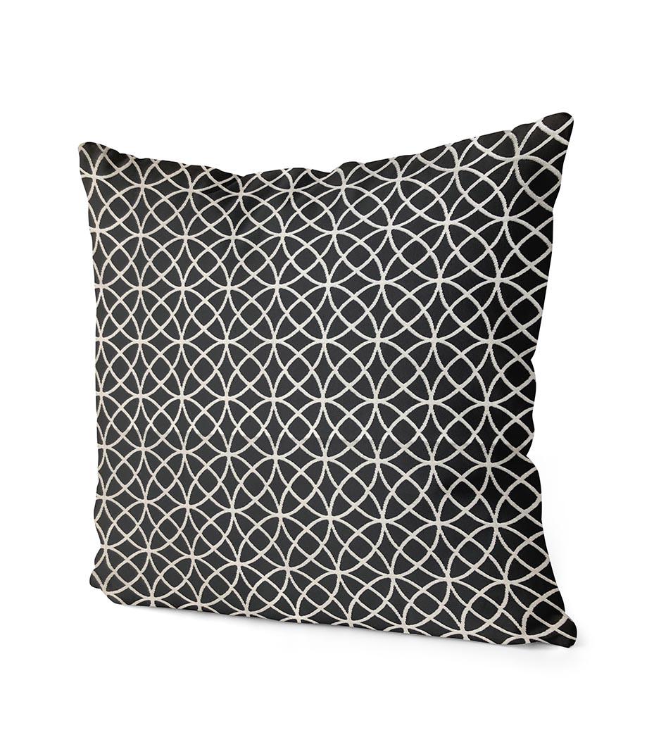 dekorativní geometrický povlak na polštář Rings  40x40 cm 2