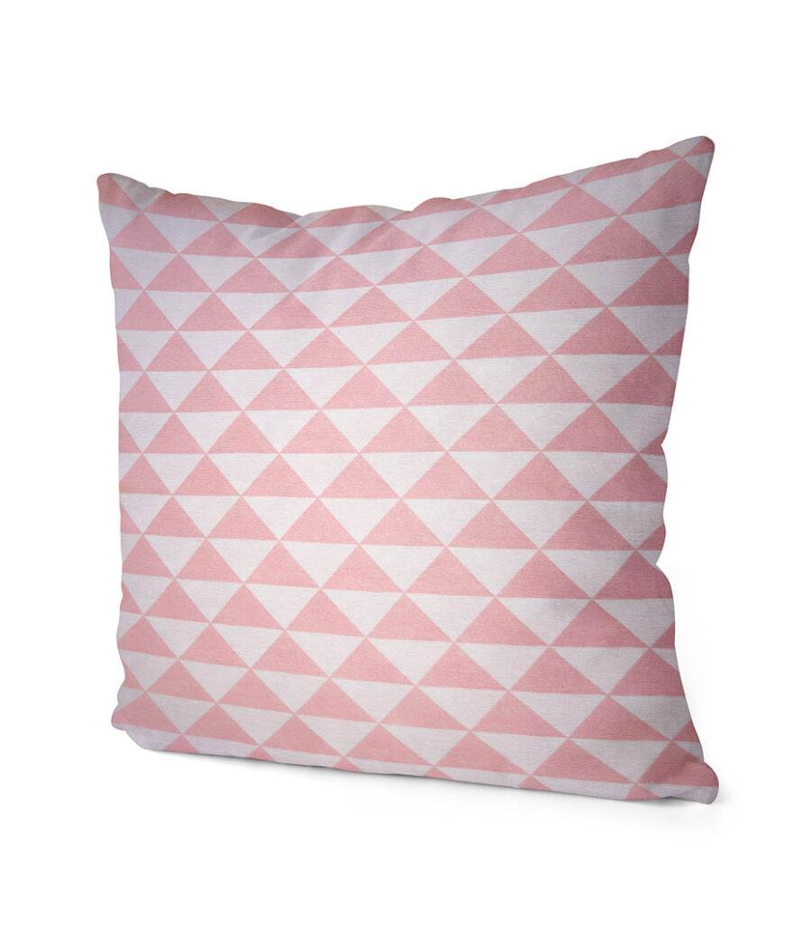 dekorativní geometrický povlak na polštář Pink triangle 40x40 cm 2